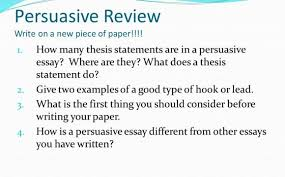 essay statements persuasive essay statements
