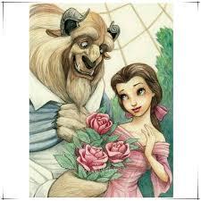 beauty and the beast diamond embroidery romantic full cross stitch square diamond sets decorative diamond painting cartoon