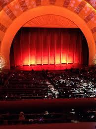 Radio City Music Hall Seating Chart Rockettes Radio City Music Hall Section 1st Mezzanine 5 Row A Seat 510