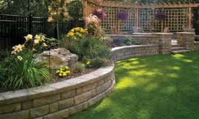 Backyard Retaining Wall Designs Interesting Stratham Hill Stone Retaining Wall Blocks Systems For The
