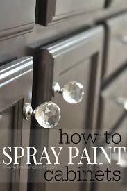 spraying cabinets with airless sprayer. Can You Use Spray Paint To Cabinets Sure Showing With Spraying Airless Sprayer