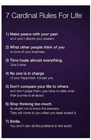 Seven Cardinal Rules For Life Google Search Super Faves Interesting 7 Rules Of Life Quote