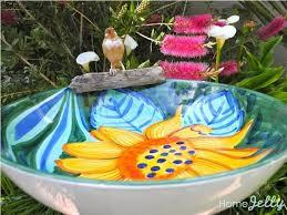 serving bowl birdbath