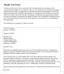 Thank You Letter To Teachers Fascinating Teacher Thank You Letter 44 Free Sample Example Format Free