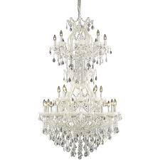 34 light beautiful white maria theresa crystal chandelier h 56 x w 36