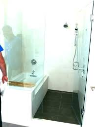 showers bath shower combos corner bathtub combo combination a glass door for tub rectangle and