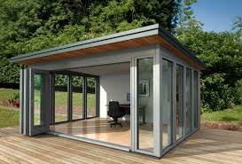Small Picture Small Shed Offices Glass garden office Communal area