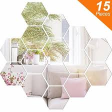 9 pieces mirror sheets self adhesive