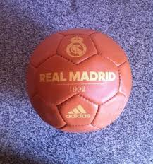 adidas real madrid 1902 historic football ball size 5 leather soccerball