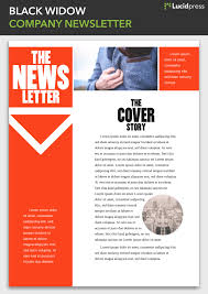 Examples Of Company Newsletters Book Author Newsletter Examples Gallery Mailerlite Templates