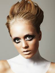 sixties this looks requires a lot of black and white line the eyes with