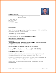 Cv Format In Ms Word 2007 Free Download Top Download Resume