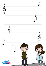 how to craft music themed writing paper com