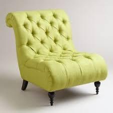 green tufted devon slipper chair contemporary chairs cost plus world market