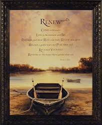 Bonnie Mohr Living Life Quote Gorgeous Amazon Renew By Bonnie Mohr 48x48 Boat Lake Inspirational Quote