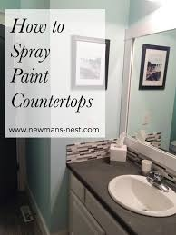 spray painted countertops newmans nest bathroom vanity