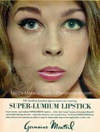 in the evenings lush primary shades like blue and green were in vogue foundation pacts out sold liquid and cream foundations the mod look