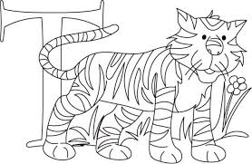 Small Picture Alphabet Coloring Page Tiger Printable Alphabet Coloring pages