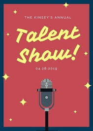Talent Show Flyer Template Awesome Talent Show Program Template