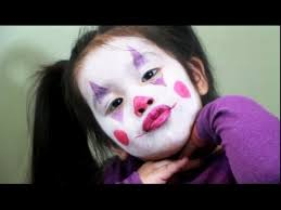 easy clown make up for toddlers and kids