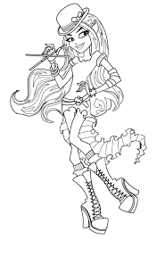 Monster High Coloring Pages Pdf Color Fresh Throughout Viettiinfo