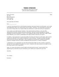 Cover Letter For Administrative Officer Position Cover Letters For