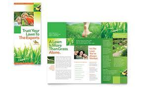 Lawn Care Brochure Lawn Maintenance Tri Fold Brochure Template Design