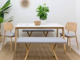 Image Farmhouse Table Mocka Livi Bench Seat Dining Furniture Mocka Nz