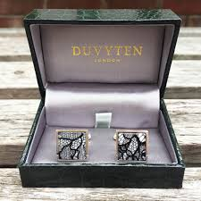 lily gardner lace cufflink 8th and 13th wedding anniversary present for him in gift box
