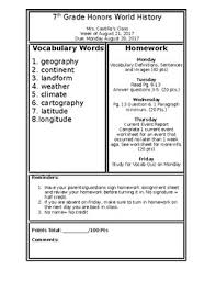 Homework Sheet Template For Teachers Homework Sheet Template By Mrscastillo Teachers Pay Teachers