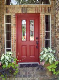 red front door on brick house. Front Door Colors For Brick Housefront House Red On Pinterest