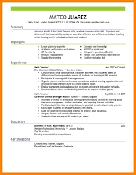 Cover Letter Education Objective For Resume Physical Math