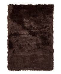 Faux sheepskin rugs Nepinetwork Chocolate Hudson Faux Sheepskin Rug Zulily Luxe Faux Fur Chocolate Hudson Faux Sheepskin Rug Zulily