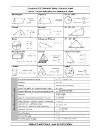 Geometry Formula Sheet Pdf