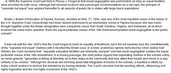 essay about plessy v ferguson  plessy essays and papers