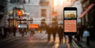 Zi - Simple App Landing Page - HTML Bootstrap Template - BootstrapBay