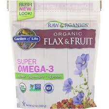 garden of life organic flax fruit super omega 3 12 oz 340 g iherb com
