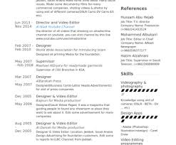 Resume Editing Online Cv Template Video Editor Resume Examples