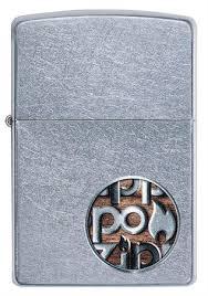 <b>Зажигалка Zippo Button с</b> покрытием Street Chrome™, 29872 на ...