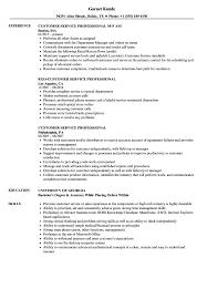 Customer Service Professional Resume Samples Velvet Jobs