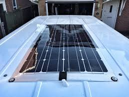 campervan solar panel installation the finished solar panel