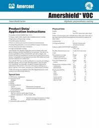 Amershieldtm Voc Data Sheet Icon Coatings Fireproofing