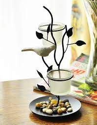 Iron arts crafts bird candle stick candle holder home decorations new year  decor christmas decoration