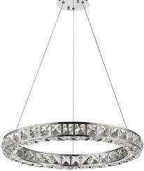 noemi led round circle chandelier