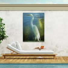 poised patience heron canvas wall art multi cool touch to zoom