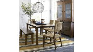room crate and barrel dining table marlow ii wood chair basque honey