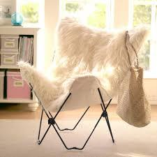 ivory furlicious faux fur erfly chair