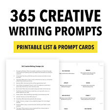 Example Essay Prompts 365 Creative Writing Prompts Thinkwritten