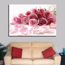 hd printed modern canvas wall art painting modular 1 piece pcs pale pink roses home on pink rose canvas wall art with hd printed modern canvas wall art painting modular 1 piece pcs pale
