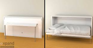 hover horizontal single murphy bed desk expand furniture folding tables smarter wall beds space savers